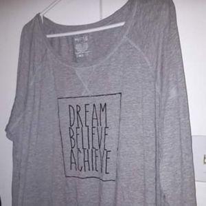Tops - Dream believe achieve long sleeve shirt size 1x